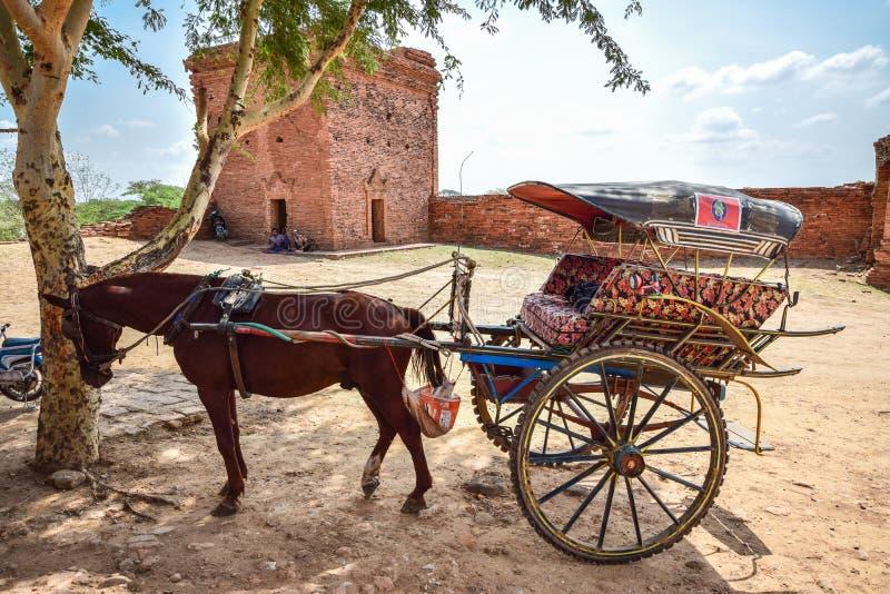 вектор растра иллюстрации лошади тележки стоковые фотографии rf