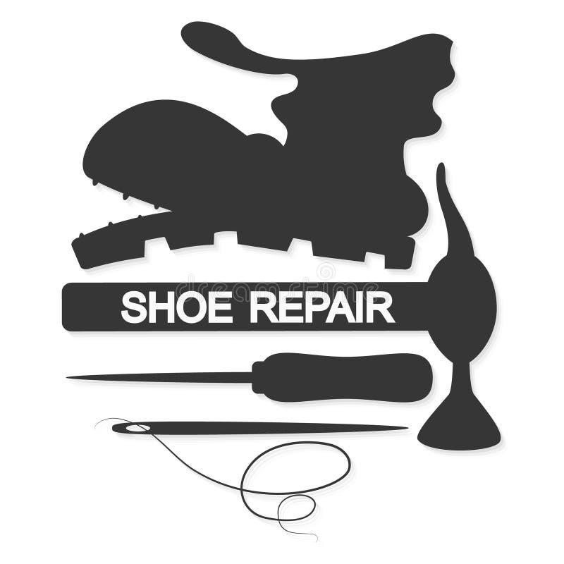 Вектор ремонта ботинка иллюстрация штока