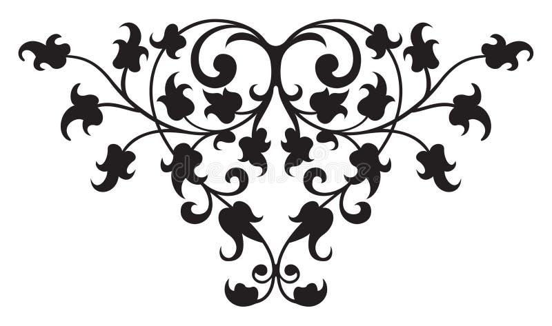 вектор ренессанса 2 деталей флористический иллюстрация вектора