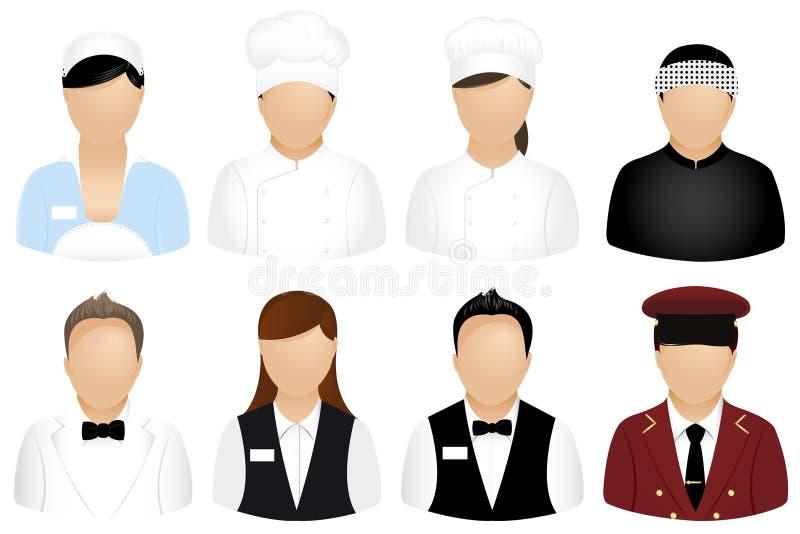 вектор ресторана людей икон иллюстрация штока
