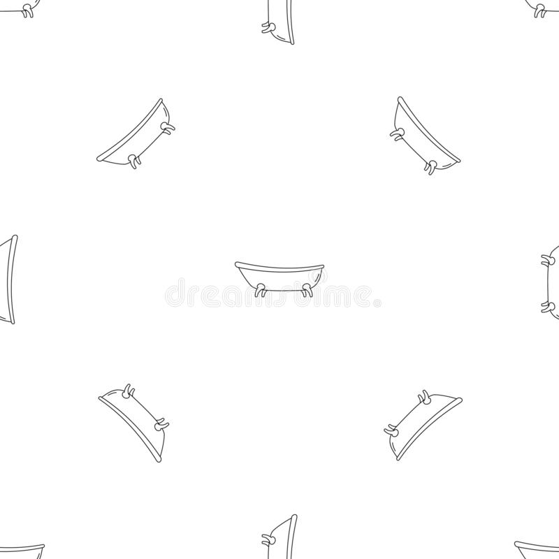 Вектор ретро картины bathtube безшовный иллюстрация штока