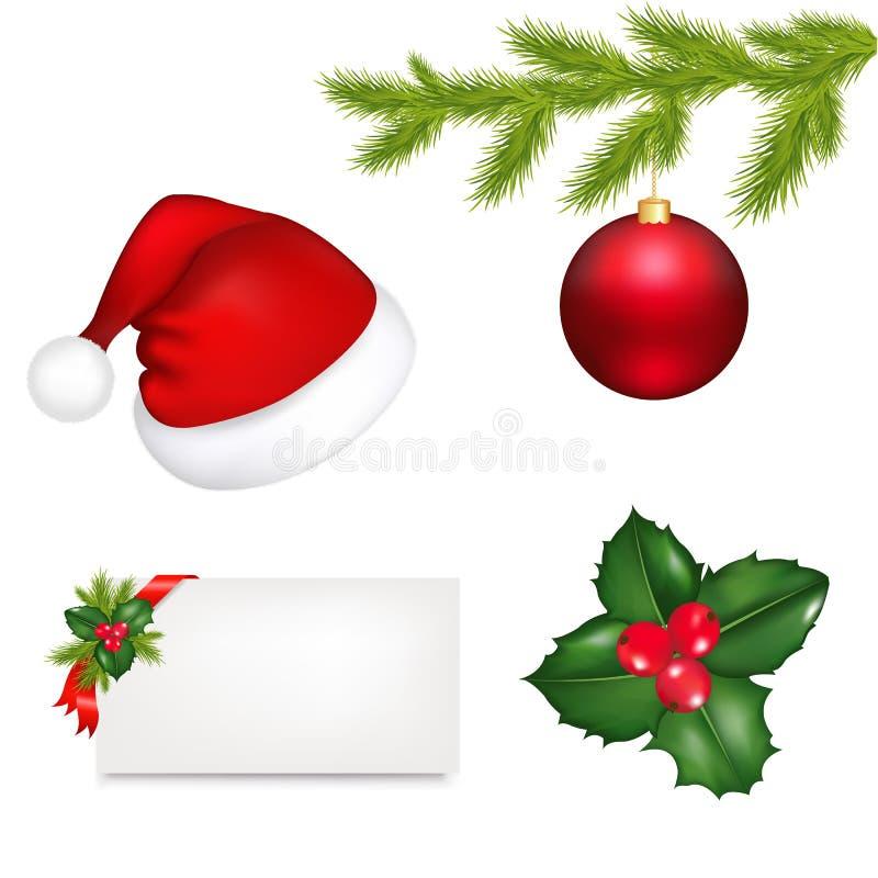 вектор рождества установленный иллюстрация вектора