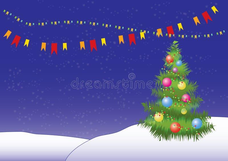 вектор рождественской елки предпосылки иллюстрация штока