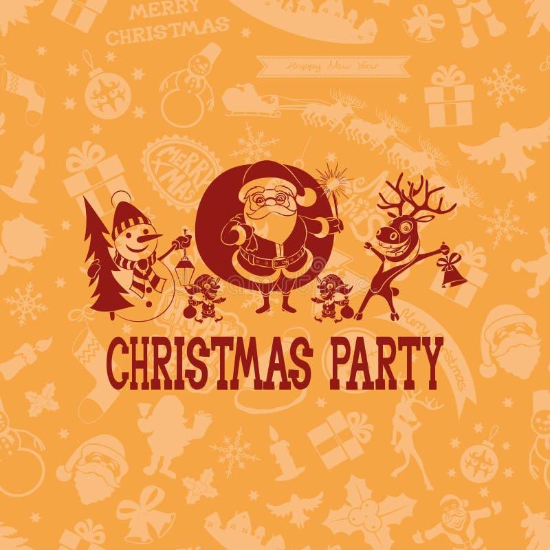 вектор Рождественская вечеринка иллюстрация штока