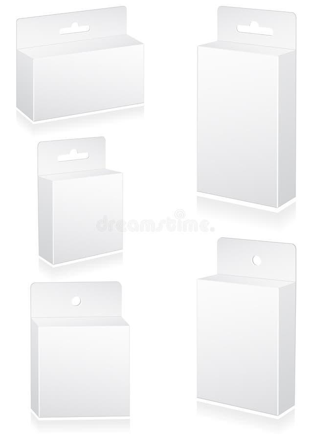 вектор розницы иллюстрации коробок пробела установленный иллюстрация штока