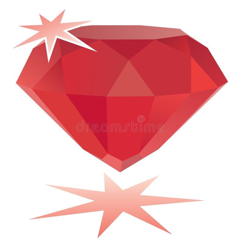 вектор рубина gemstone иллюстрация вектора