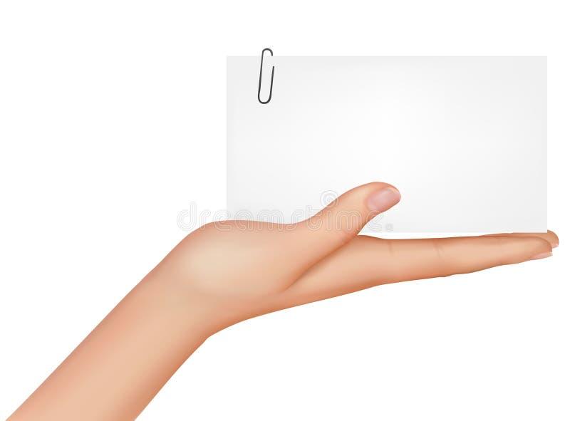 вектор руки карточки иллюстрация штока