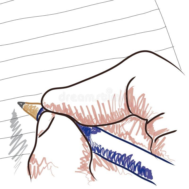 вектор руки чертежа иллюстрация вектора