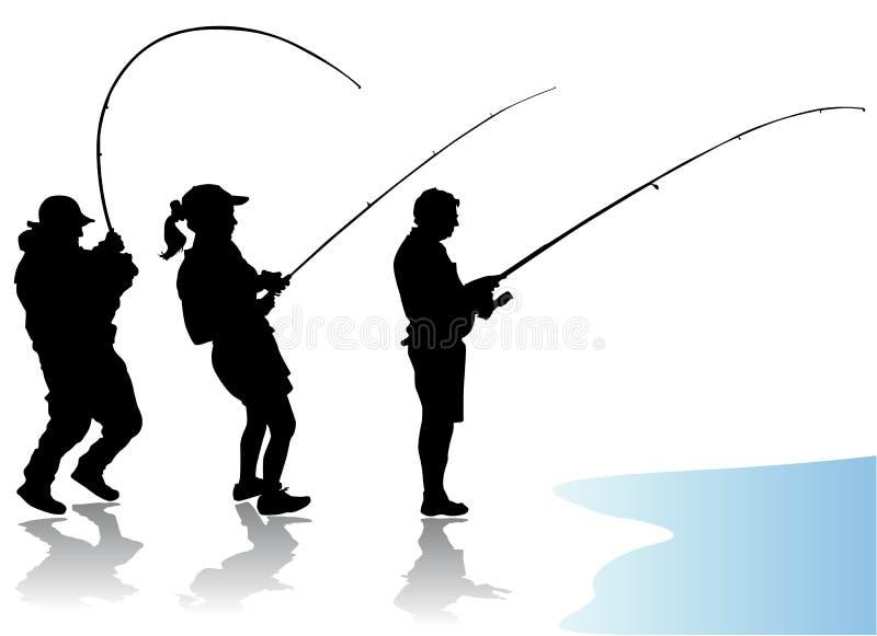 вектор рыболова иллюстрация вектора