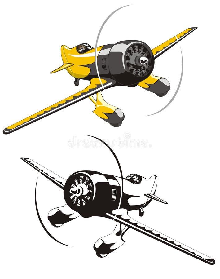 вектор самолета участвуя в гонке иллюстрация вектора
