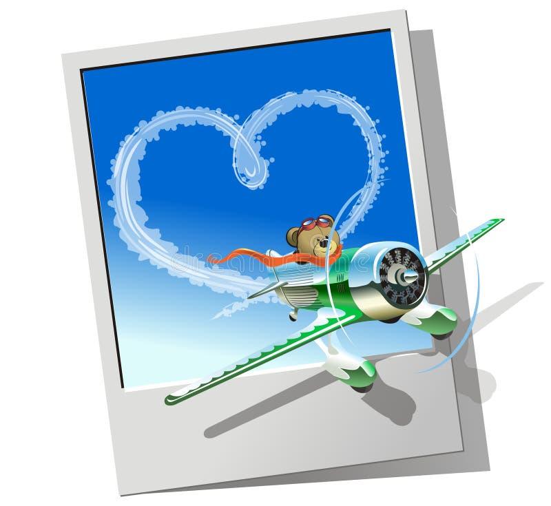 вектор самолета участвуя в гонке иллюстрация штока