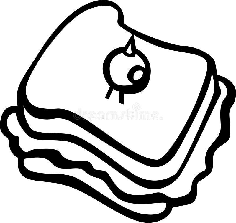 вектор сандвича иллюстрации прованский бесплатная иллюстрация