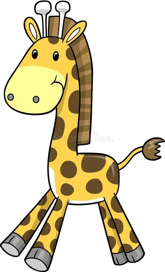 вектор сафари иллюстрации giraffe