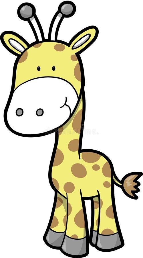 вектор сафари giraffe иллюстрация вектора