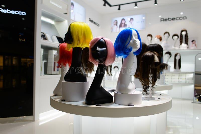 вектор салона illusration hairdressing волос девушки длинний стоковая фотография