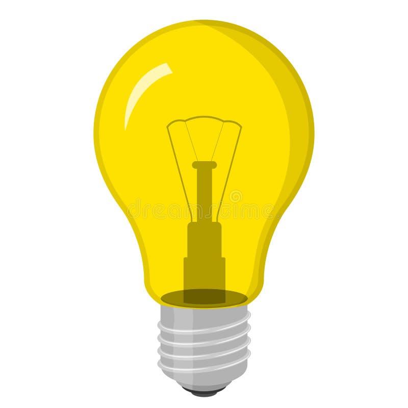 вектор света иллюстрации идеи принципиальной схемы шарика Изолировано на белизне также вектор иллюстрации притяжки corel иллюстрация штока
