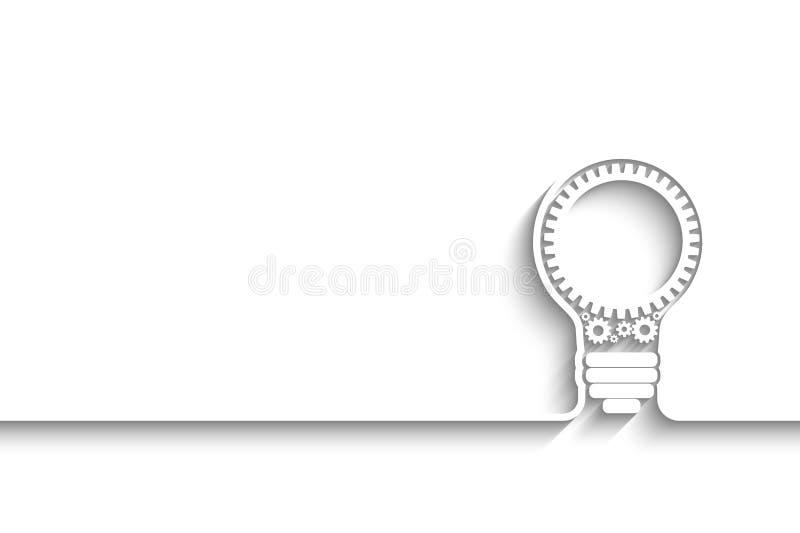 вектор света иллюстрации идеи принципиальной схемы шарика иллюстрация вектора