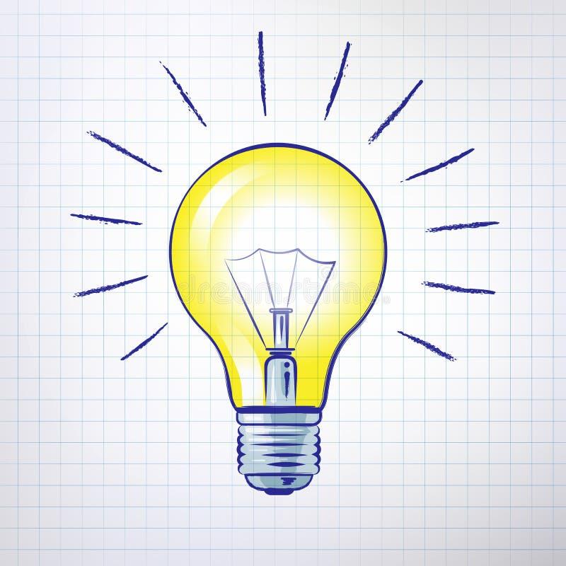 вектор света иллюстрации идеи принципиальной схемы шарика иллюстрация штока