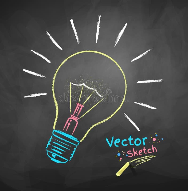 вектор света иллюстрации идеи принципиальной схемы шарика бесплатная иллюстрация