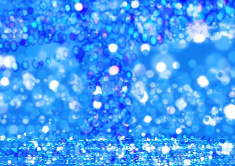 вектор света bokeh абстрактной предпосылки голубой бесплатная иллюстрация