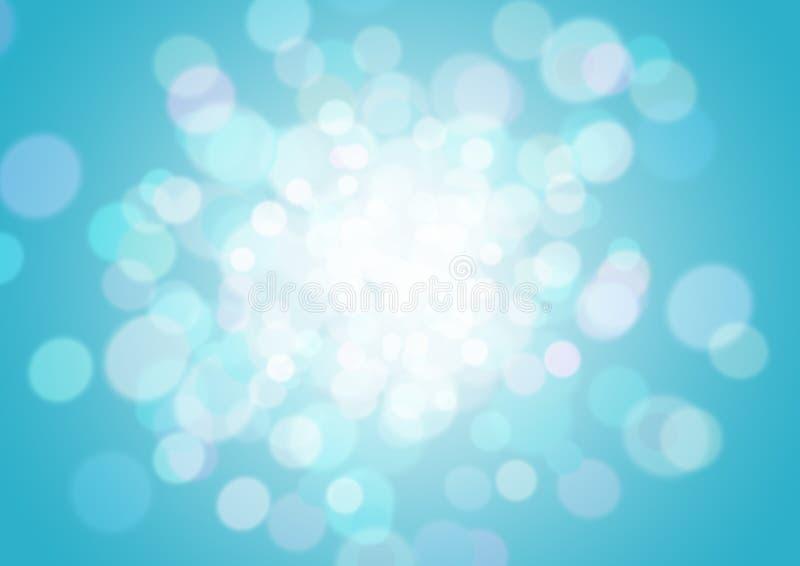 вектор света bokeh абстрактной предпосылки голубой стоковые изображения