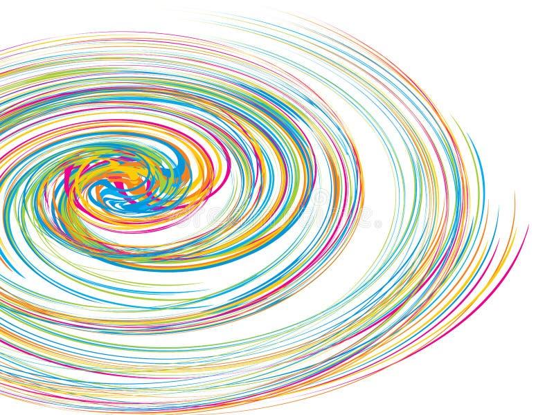 вектор свирли круга предпосылки иллюстрация вектора