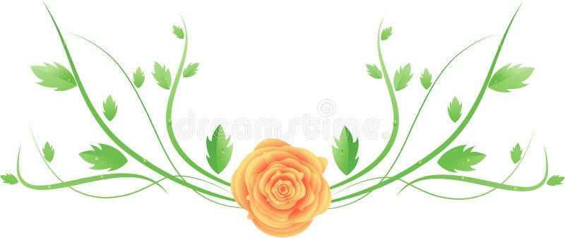 вектор свирли розы листьев бесплатная иллюстрация