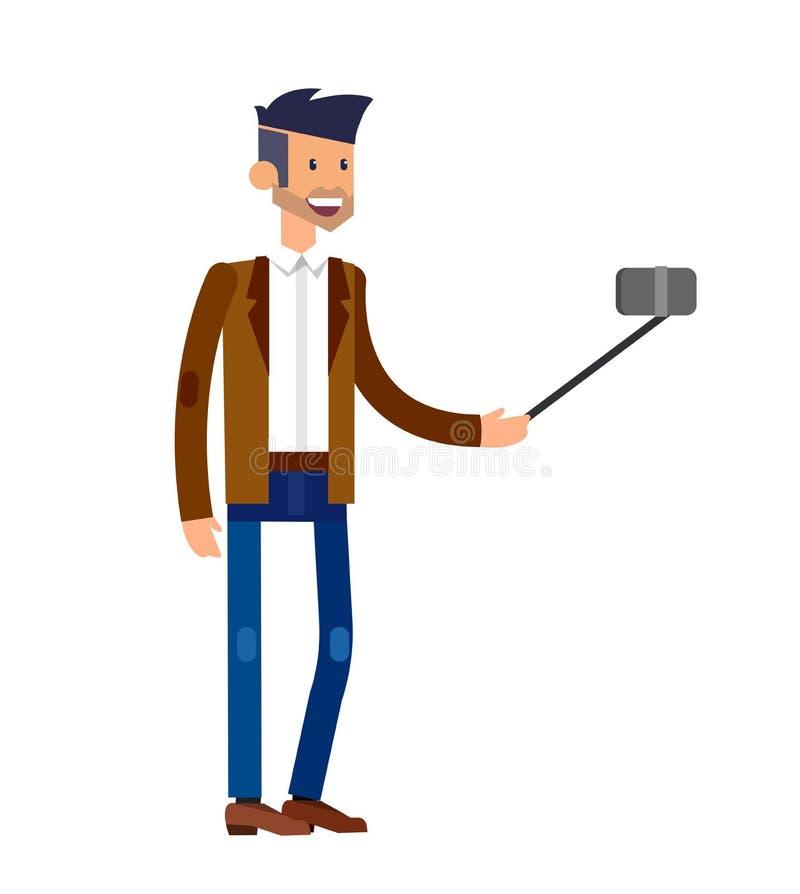 Вектор семьи и пар съемок Selfie иллюстрация штока