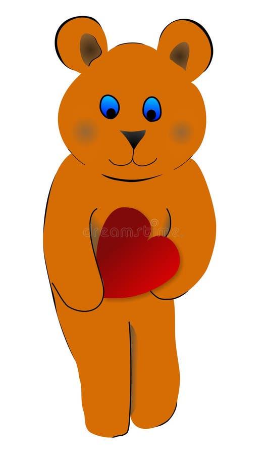 вектор сердца медведя стоковое фото rf