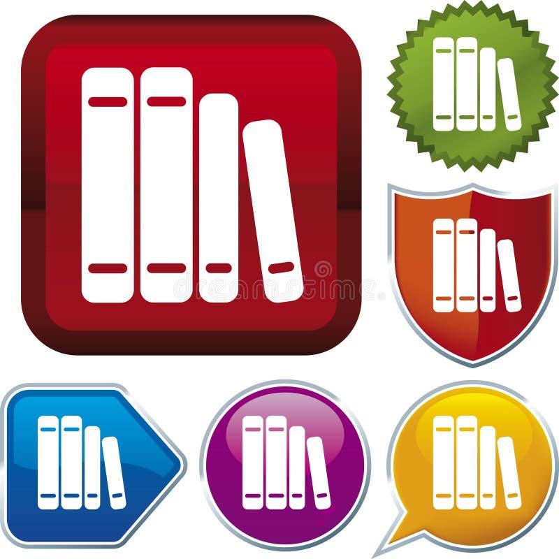 вектор серии иконы книги иллюстрация вектора