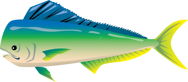 вектор 5 серий иллюстрации рыб шаржа стоковое фото
