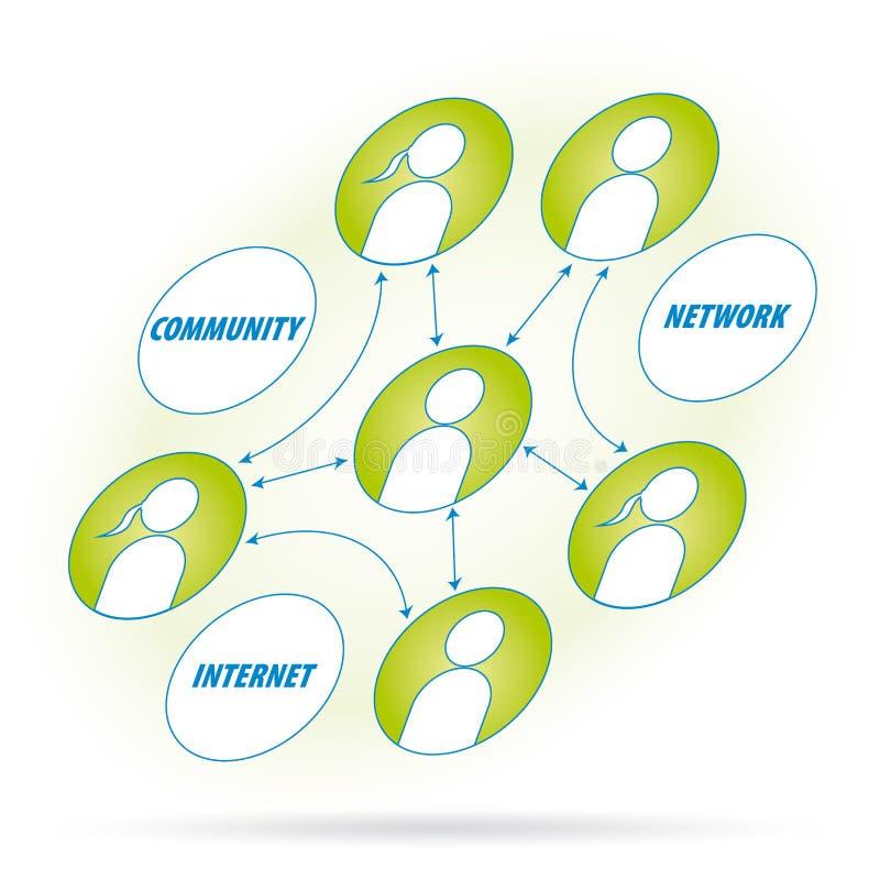 вектор сети диаграммы иллюстрация штока