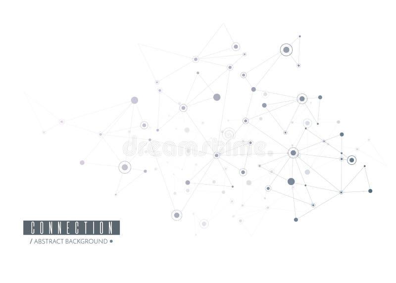 вектор сети иллюстрации конструкции принципиальной схемы Соединенные линии и точки вектор бесплатная иллюстрация