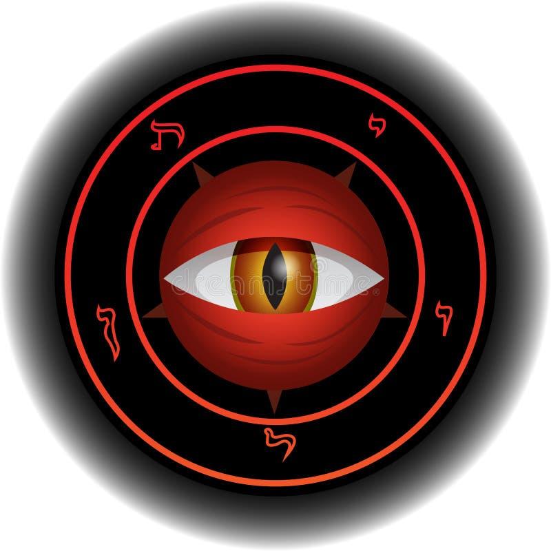 вектор сетки глаза дьявола иллюстрация штока
