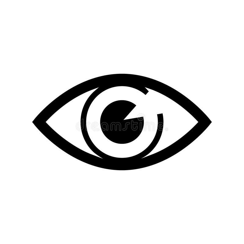 Вектор символа значка глаза Вектор символов значка почты символ для компьютера вебсайта и мобильного вектора иллюстрация штока