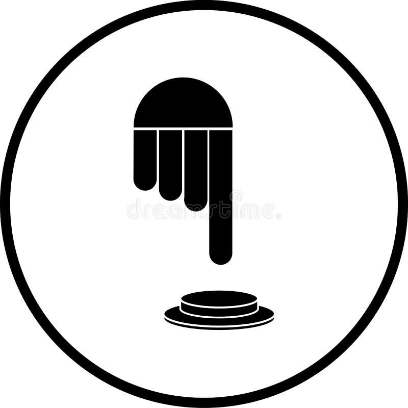 вектор символа нажима отжимать руки кнопки бесплатная иллюстрация