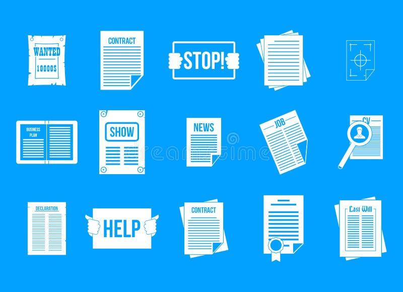 Вектор сини значка листовки установленный бесплатная иллюстрация