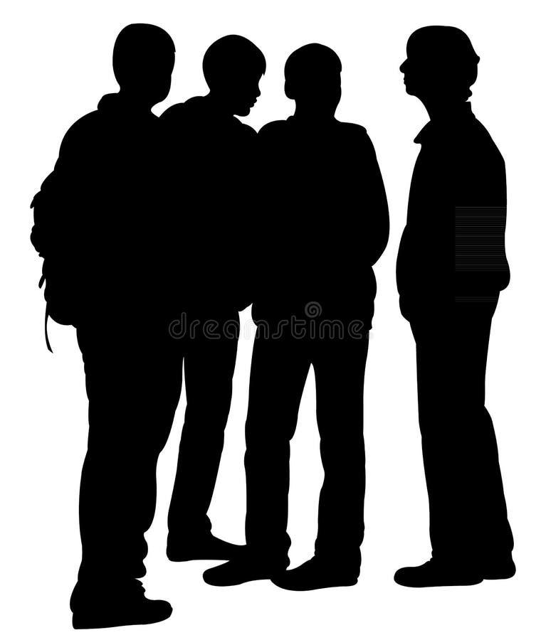 Вектор силуэта подростков бесплатная иллюстрация