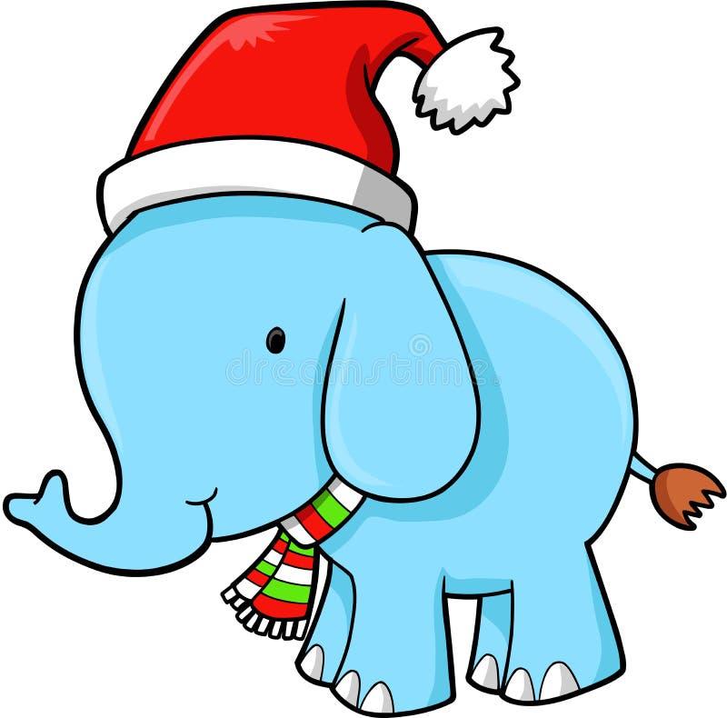 Download вектор слона рождества иллюстрация вектора. иллюстрации насчитывающей изолировано - 6858765