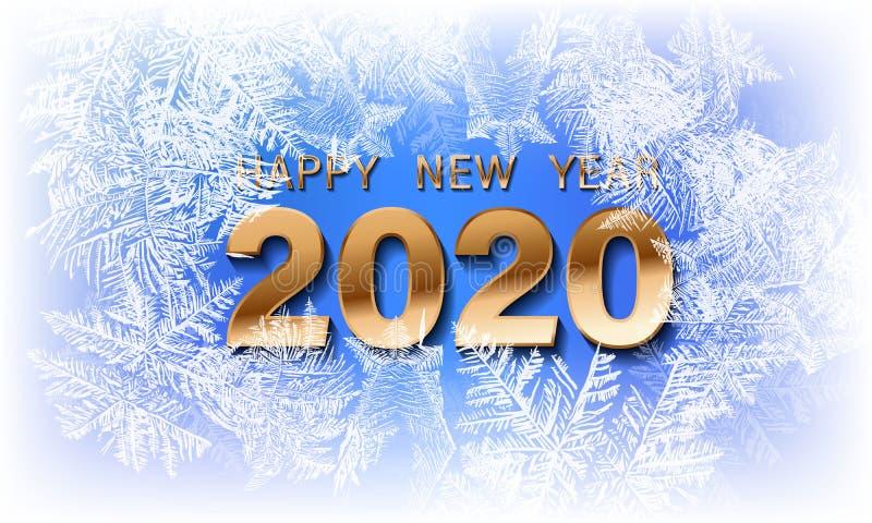 Вектор 2020 снега рождества понижаясь изолированный на темной предпосылке Влияние украшения снежинки прозрачное Картина хлопь сне стоковая фотография