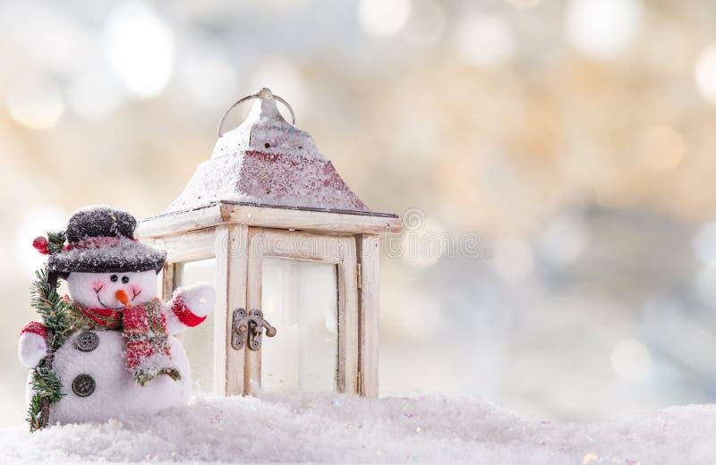 вектор снеговика иллюстрации рождества предпосылки стоковые изображения