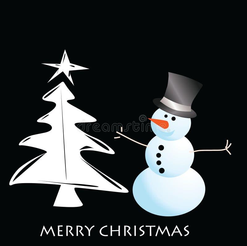 вектор снеговика рождества карточки стоковые фото