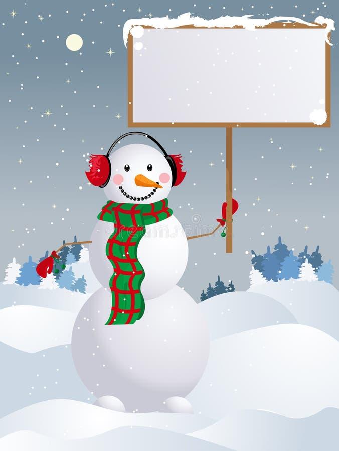 вектор снеговика иллюстрация штока