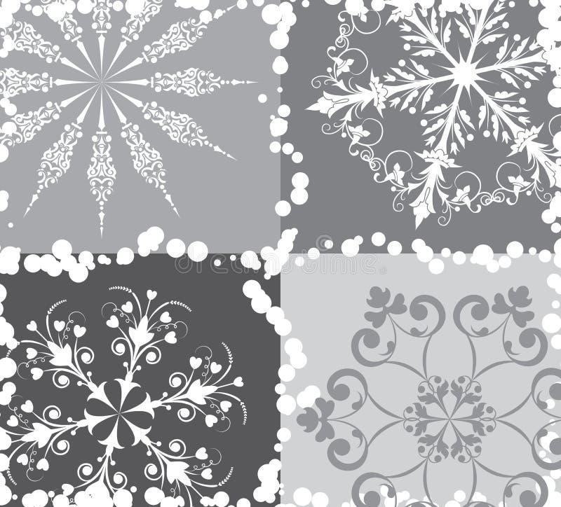 вектор снежинки предпосылки иллюстрация вектора