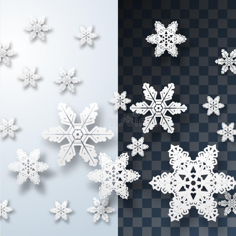 вектор снежинки сини предпосылки установленный иллюстрация штока
