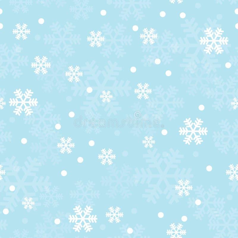 вектор снежинок голубой картины иллюстрации рождества безшовный иллюстрация вектора