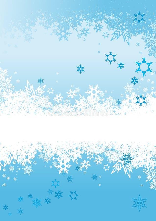 вектор снежинок предпосылки иллюстрация штока