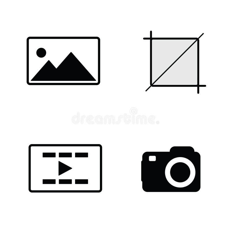 Вектор снятый камерой черный иллюстрация вектора