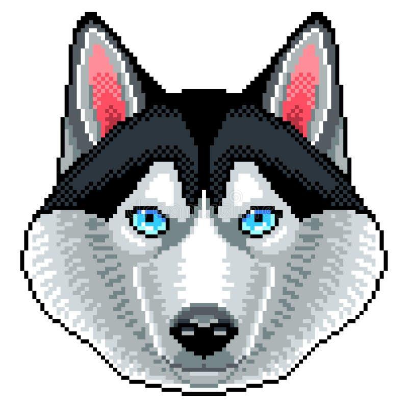 Вектор собаки пиксела осиплой изолированный стороной бесплатная иллюстрация