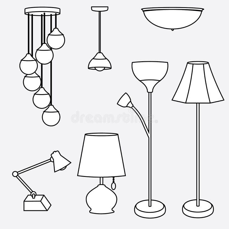 Рисунки светильников карандашом